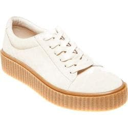 Women's Steve Madden Holllly Creeper Platform Sneaker Bone Suede