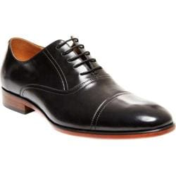 Men's Steve Madden Herbert Cap-Toe Balmoral Black Leather