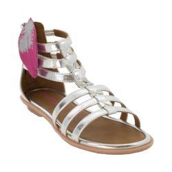 Girls' Bumbums & Baubles Athena Gladiator Sandal Silver Polyurethane