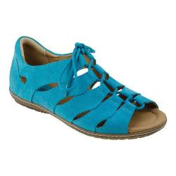 Women's Earth Plover Ghillie Shoe Turquoise Nubuck