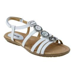 Women's Earth Seaside Strappy Sandal White Soft Calf Leather