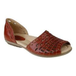Women's Earth Shore Regal Red Full Grain Leather