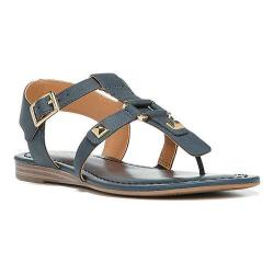 Women's Franco Sarto Geyser Sandal Blue Nubuck Synthetic