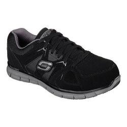 Men's Skechers Work Relaxed Fit Synergy Ekron Alloy Toe Lace Up Black