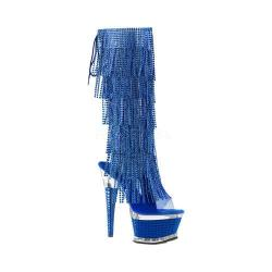 Women's Pleaser Illusion 2017RSF Boot Blue Tinted TPU/Blue/Blue