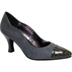 Women's Bellini Zaza Pump Grey/Croc Microsuede