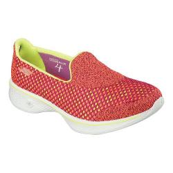 Women's Skechers GOwalk 4 Kindle Slip On Walking Shoe Pink/Lime
