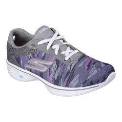 Women's Skechers GOwalk 4 Motion Walking Shoe Gray/Purple