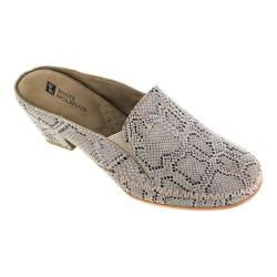 Women's White Mountain Dahling Mule Beige Exotic Print Leather