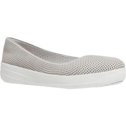 Women's FitFlop F-Sporty Ballerina Perf Urban White Leather