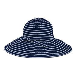 Women's San Diego Hat Company Ribbon Braid Large Brim Hat RBL207 Navy/White