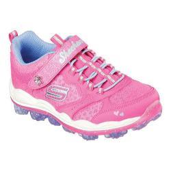 Girls' Skechers Skech-Air Stardust Bungee Lace Sneaker Neon Pink/Periwinkle