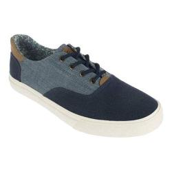 Men's Crevo Tiller Sneaker Navy/Brown Canvas