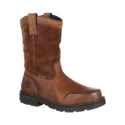 Men's Georgia Boot GB00093 10in EL Wellington Waterproof Work Boot Brown Full Grain Leather