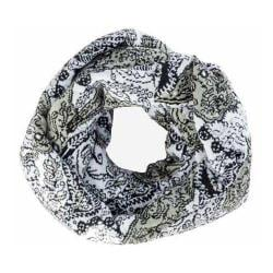 Women's San Diego Hat Company Lace Intarsia Infinity Scarf BSS1521 Black