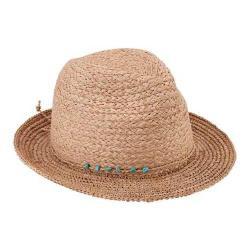 Women's San Diego Hat Company Raffia Wide Brim Fedora RHF6117 Natural