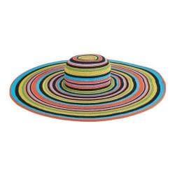 Women's San Diego Hat Company Ultrabraid Floppy Sun Brim Hat UBX2721 Multi Black