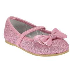 Girls' Nina Hazelle-T Ballet Flat Light Pink Baby Glitter/Metallic