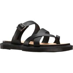 Women's Dr. Martens Kassy Strappy Toe Post Sandal Black Semi Chromo Leather
