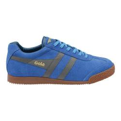 Men's Gola Harrier Sneaker Electric Blue/Grey Suede