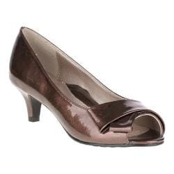 Women's Soft Style Aubrey Mid Brown Pearlized Patent