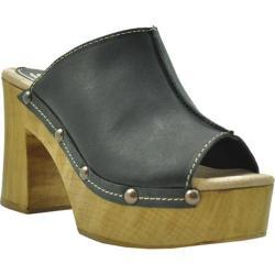 Women's Sbicca Manzanita Platform Slide Black Leather
