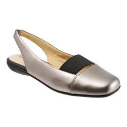 Women's Trotters Sarina Slingback Pewter Leather Combo