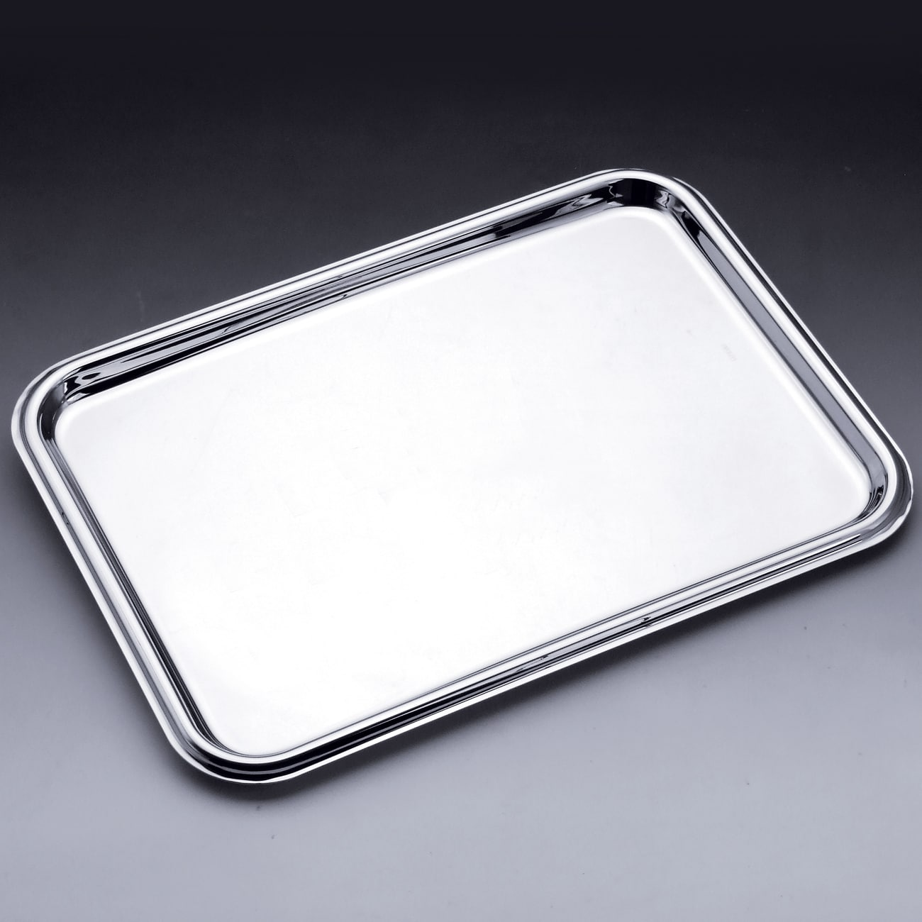 Wolff Silver Stainless Steel Large Serving Tray