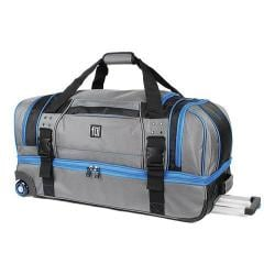 Ful Streamline 30-inch Grey Nylon Soft Rolling Duffle Bag