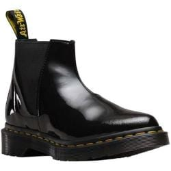 Women's Dr. Martens Bianca Low Shaft Chelsea Boot Black Patent Lamper