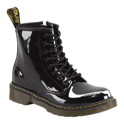 Children's Dr. Martens Delaney 8 Eye Side Zip Boot Black Patent Lamper