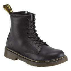 Children's Dr. Martens Delaney 8 Eye Side Zip Boot Black Softy T