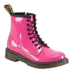 Children's Dr. Martens Delaney 8 Eye Side Zip Boot Hot Pink Patent Lamper