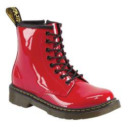 Children's Dr. Martens Delaney 8 Eye Side Zip Boot Red Patent Lamper