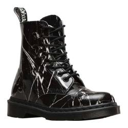 Women's Dr. Martens Pascal Marble 8 Eye Boot Graphite Patent Marble