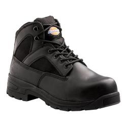 Men's Dickies Buffer Steel Toe Boot Black Full Grain Leather
