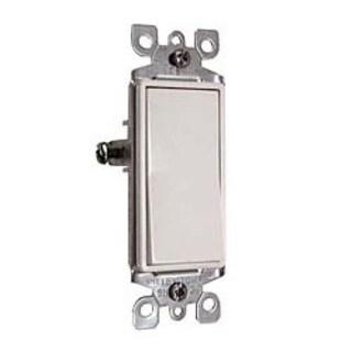 Leviton S12-5601-2WS White Residential Grade Decora AC Quiet Switch Rocker