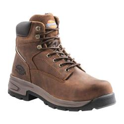 Men's Dickies Stryker Steel Toe Boot Brown Full Grain Leather