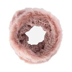 Women's San Diego Hat Company Cable Knit Snood Scarf BSS1513 Blush