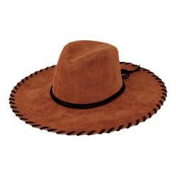 Women's San Diego Hat Company Faux Suede Floppy Fedora CTH8033 Tobacco