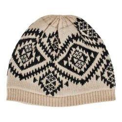 Women's San Diego Hat Company Knit Beanie KNH3420 Ivory/Black