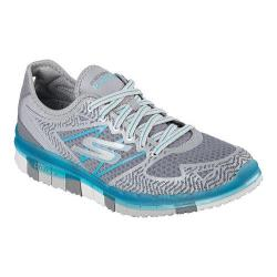 Women's Skechers GO FLEX Walk Momentum Walking Shoe Charcoal/Blue
