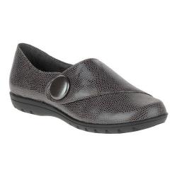 Women's Soft Style Veda Monk Strap Shoe Dark Grey Lizard
