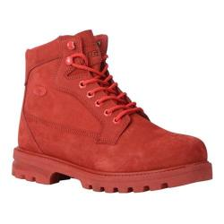 Men's Lugz Brigade HI TX Boot Red Nubuck