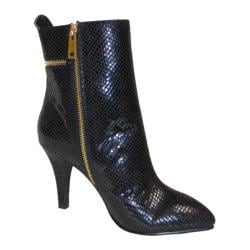 Women's Bellini Claudia Ankle Boot Black Snake Fabric