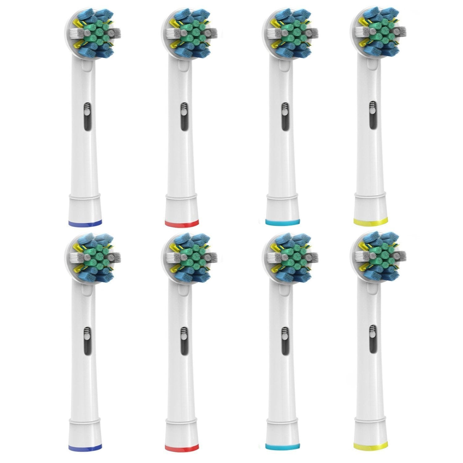 Pursonic Premium Floss Action Replacement Toothbrush Heads for Oral B (Pack of 8)