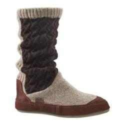 Women's Acorn Slouch Boot Charcoal Cable Knit