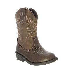Girls' Nina Mirabela Cowboy Boot - Kid Brown Distressed Polyurethane