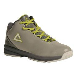 Men's Peak E21061A Basketball Shoe Grey/Lime Green