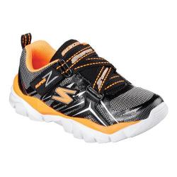 Boys' Skechers Electronz Z Strap Sneaker Black/Orange